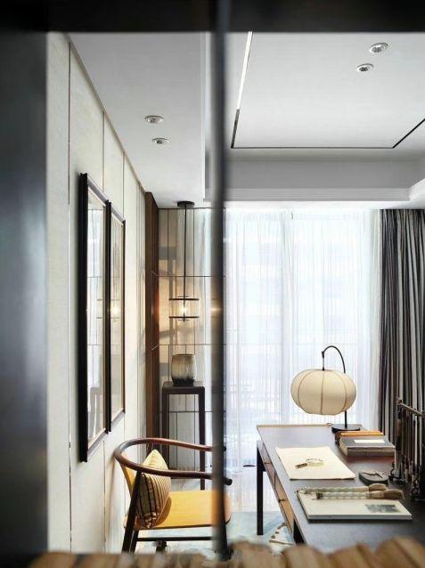 书房书桌新古典风格装饰设计图片