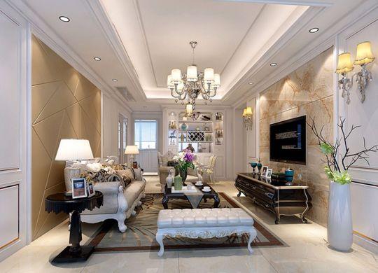 90平欧式风格三居室装修效果图