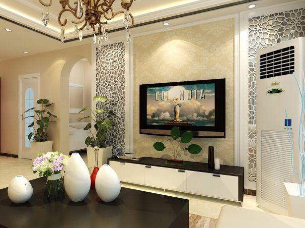 客厅电视柜简欧风格装修效果图