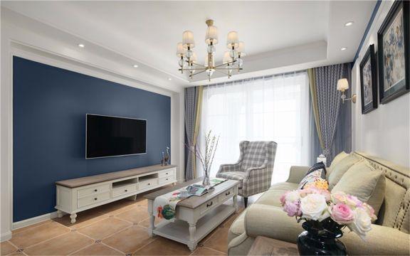 106平美式风格三居室装修效果图