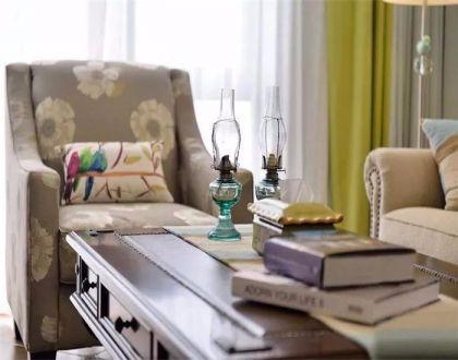 客厅沙发美式风格装修图片