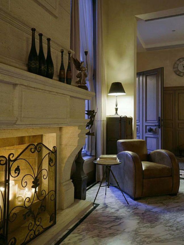 客厅灯具法式风格装饰图片