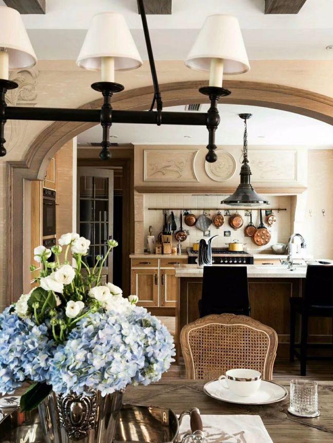 厨房橱柜法式风格效果图