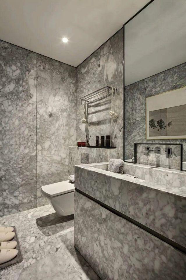 卫生间洗漱台新中式风格装修图片