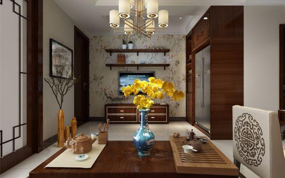 客厅茶几中式风格装饰设计图片