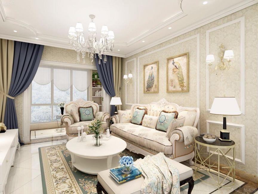 130平欧式风格套房装修效果图
