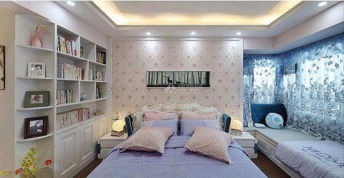 庄重卧室背景墙装修案例图片