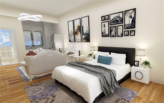 60平现代简约风格公寓装修效果图