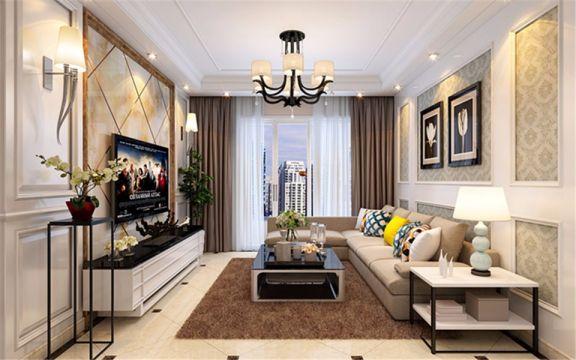 客厅灰色沙发装修效果图