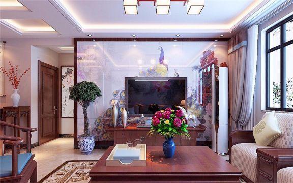 奢华红色客厅室内装饰