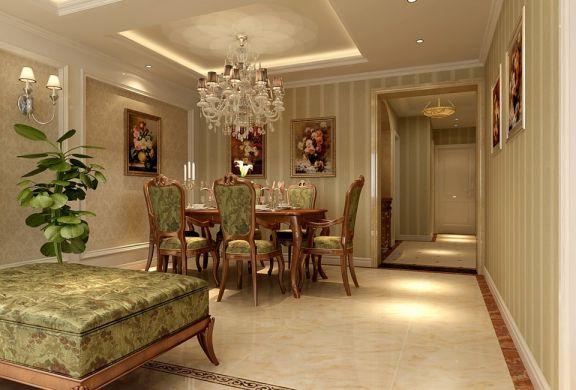餐厅白色吊顶欧式风格装修图片