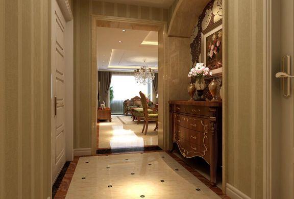 玄关米色地砖欧式风格装潢图片