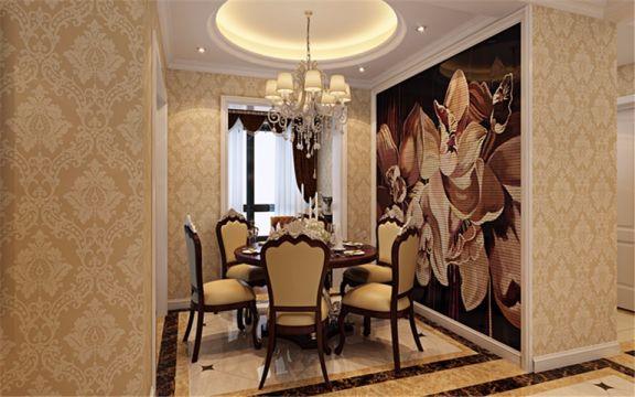 餐厅红色餐桌简约风格装饰设计图片