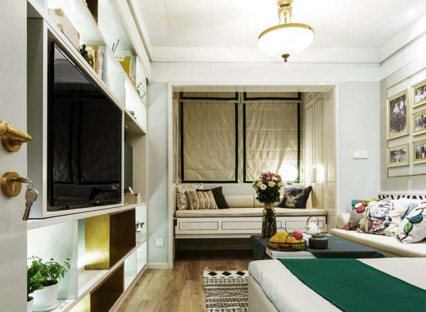 客厅白色吊顶北欧风格效果图