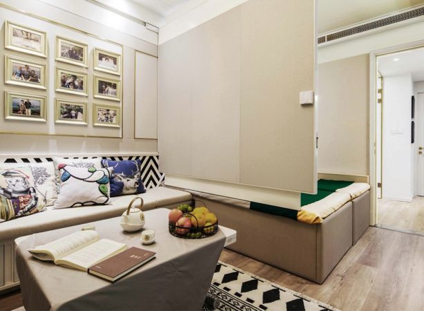 客厅白色茶几北欧风格装修效果图