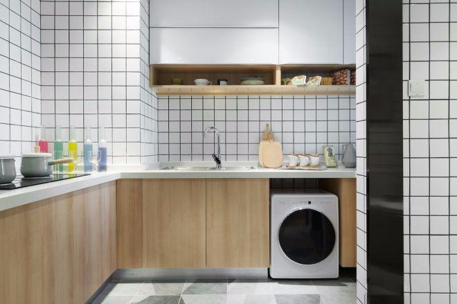 厨房黄色橱柜效果图
