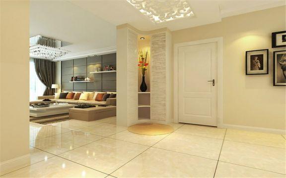 朴素温馨现代米色门厅装修实景图片