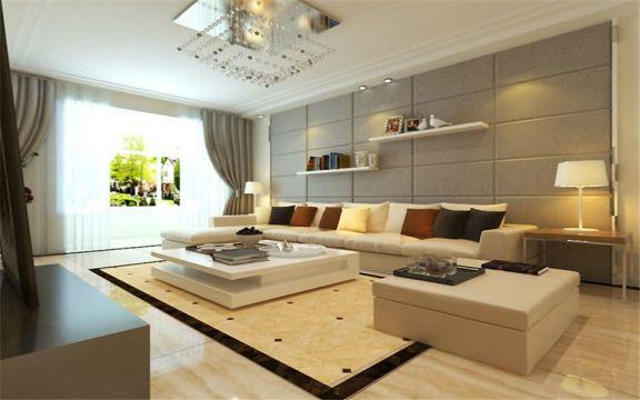 现代客厅沙发装潢效果图