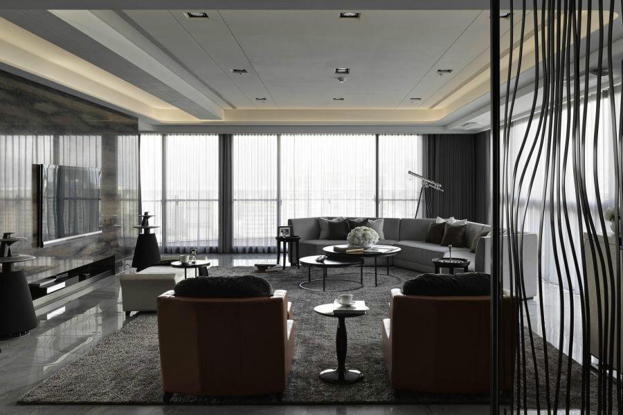 客厅灰色沙发现代风格效果图
