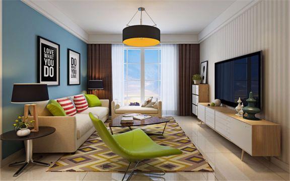 101平现代简约风格三居室装修效果图