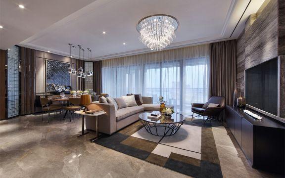 170平现代简约风格三居室装修效果图
