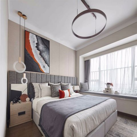 75平现代风格两居室装修效果图