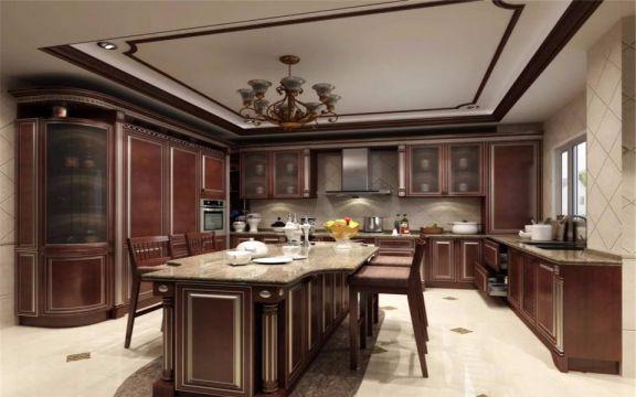 温馨咖啡色厨房图片