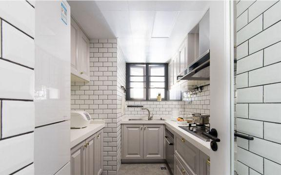 140平美式风格三室两厅一厨两卫装修效果图