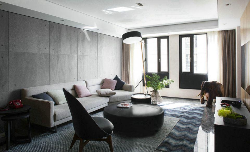 78平后现代风格两居室装修效果图