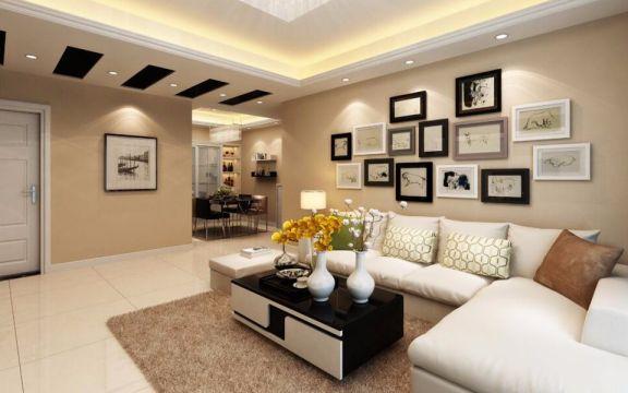 121平现代简约风格三居室装修效果图