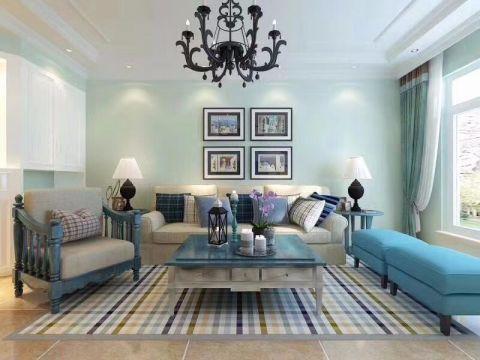98平地中海风格两居室装修效果图
