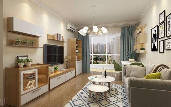 80平现代简约风格两居室装修效果图