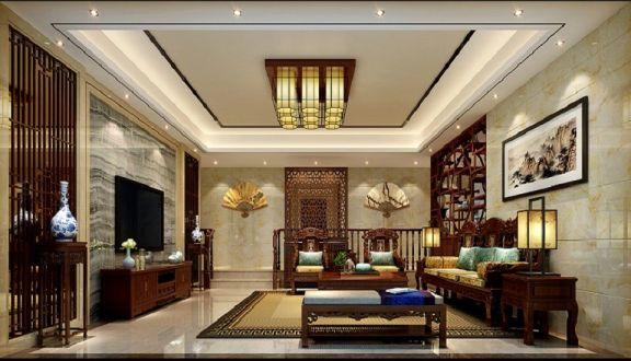 168平新中式风格别墅装修效果图