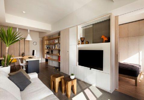 118平日式风格公寓装修效果图