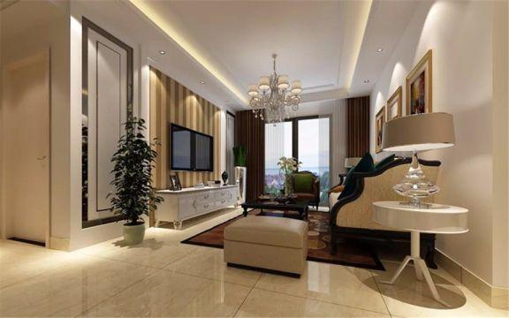 120平简欧风格三居室装修效果图