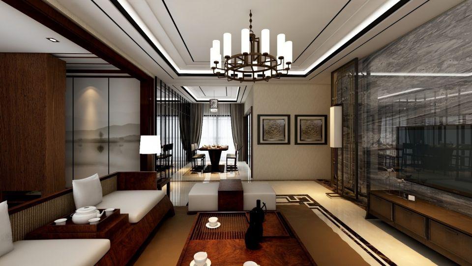 178平新中式风格楼房装修效果图