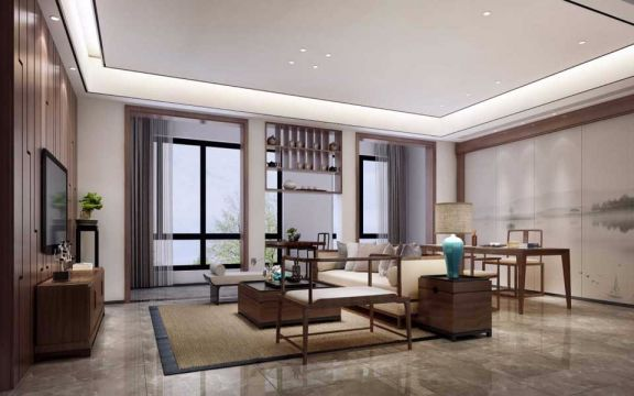 108平新中式风格套房装修效果图