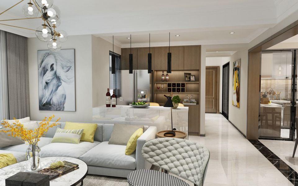 140平现代简约风格套房装修效果图