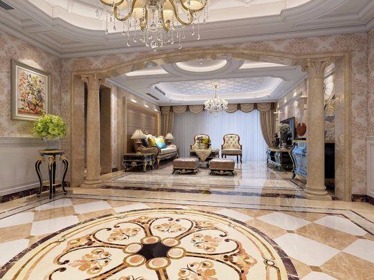289平欧式风格三居室装修效果图