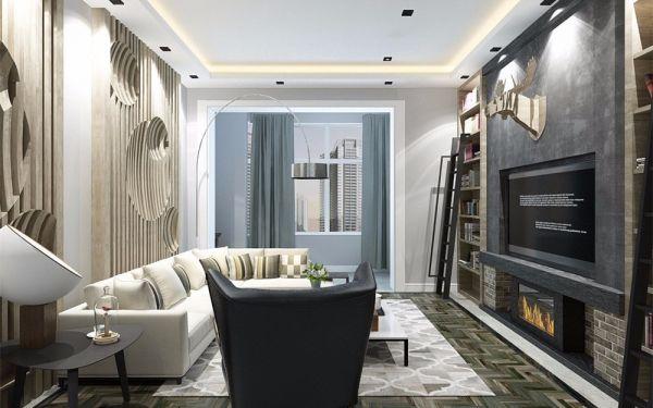 96平现代简约风格两居室装修效果图