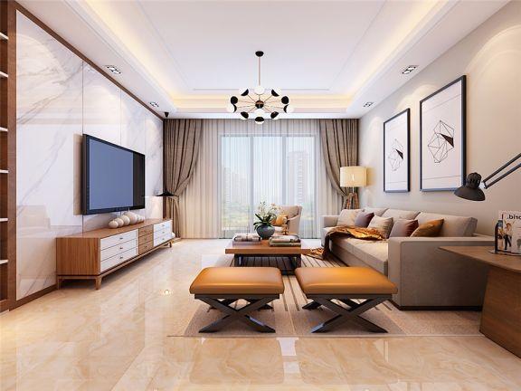 120平现代简约风格套房装修效果图