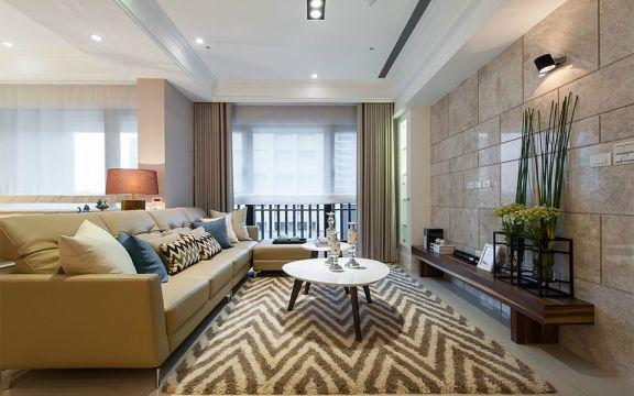 115平现代风格三居室装修效果图