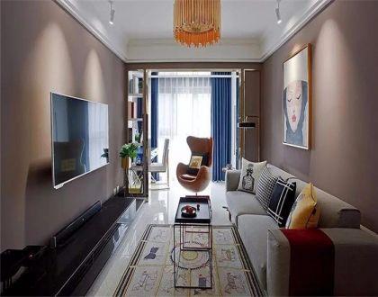 98平现代简约风格三居室装修效果图