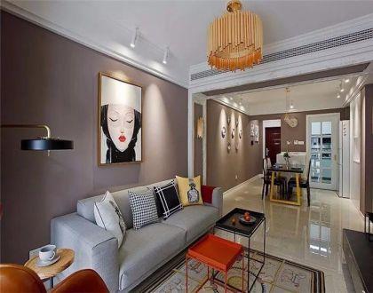 98平现代简约三居室装修效果图