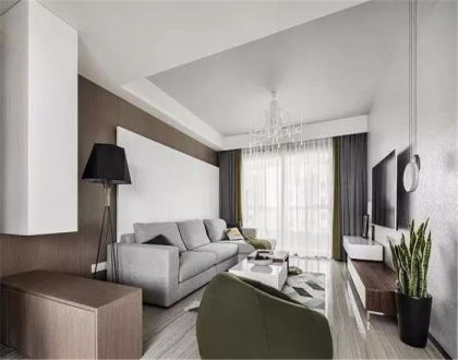 143平现代简约风格三居室装修效果图