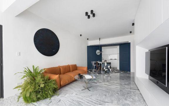 89平简约风格两居室装修效果图