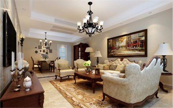 138平欧式风格四居室装修效果图