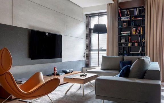 60平现代风格公寓装修效果图