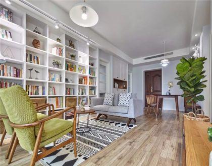 91平简约风格两居室装修效果图