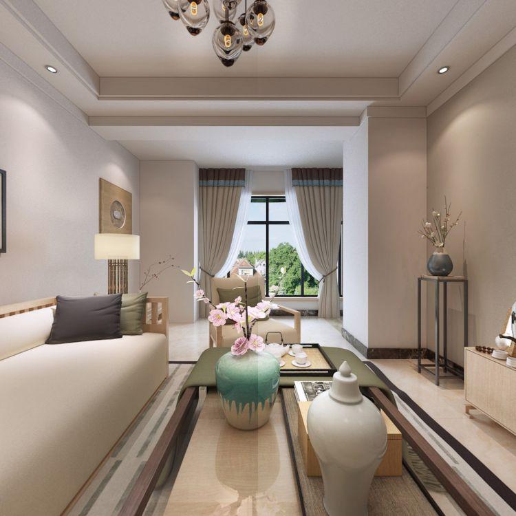 2018新中式110平米装修设计 2018新中式套房设计图片